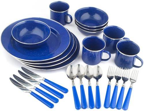 Tableware Set Plates, Bowls, Mugs & Utensils